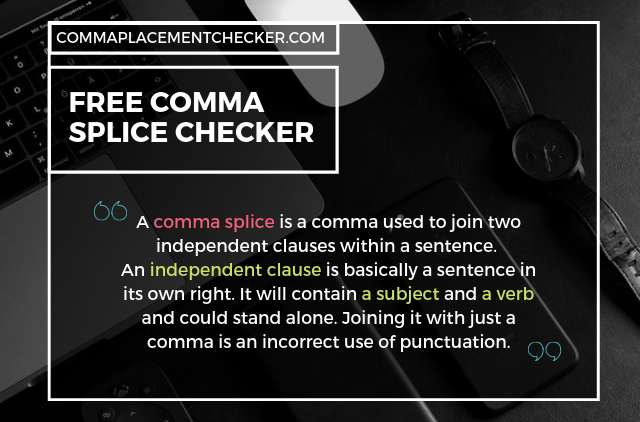 comma splice checker free online