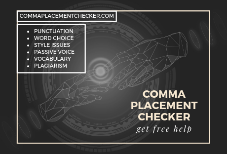 correct comma placement checker and fixer