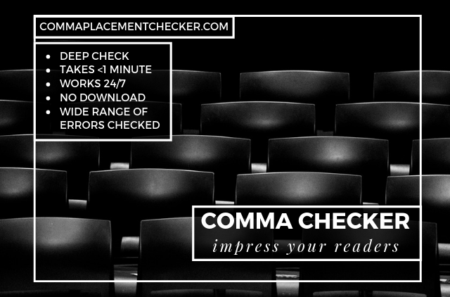 free online comma checker and corrector